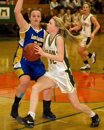 Montpelier High School girls basketball team was defeated by Lamoille Union High at the Lenny Drew gym Friday in Montpelier